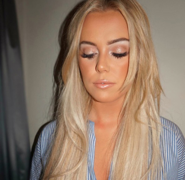 TOWIE star Chloe Meadows shows off her stunning make-up look (by Laura Louise, MUA) on Instagram, 7 November 2016