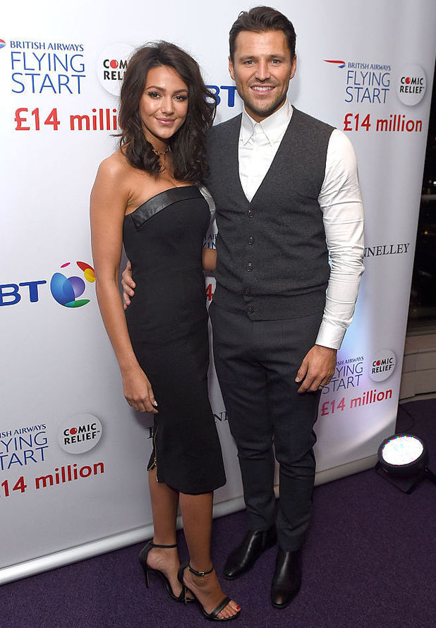 Mark Wright and Michelle Keegan at the BT Tower for the British Airways Flying Start event, 10 November 2016