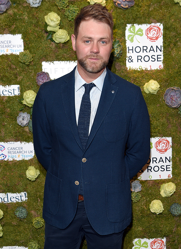 Brian McFadden arrives for The Horan And Rose event at The Grove on May 29, 2016 in Watford, England. (Photo by Karwai Tang/WireImage)