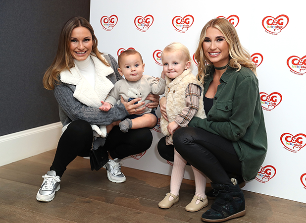 Sam Faiers and son Paul with Billie Faeirs and daughter Nellie attending the C&G baby club 'The Happy Song' Launch Event at Ham Yard Hotel on October 16, 2016 in London, England. (Photo by Mike Marsland/Mike Marsland/WireImage)