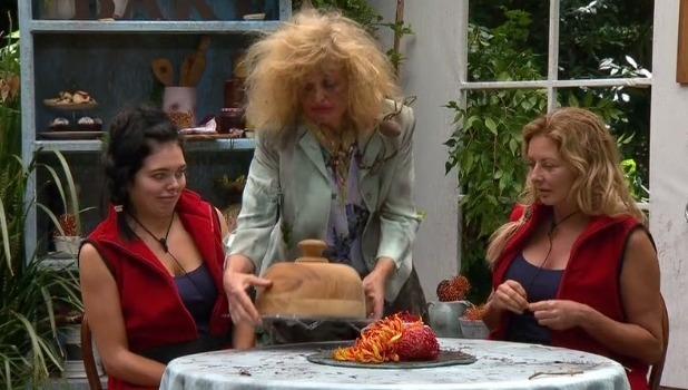 I'm A Celebrity Big Bush Bake Off trial: Scarlett Moffatt and Carol Vorderman eat camel udders and turkey testicles 16 November