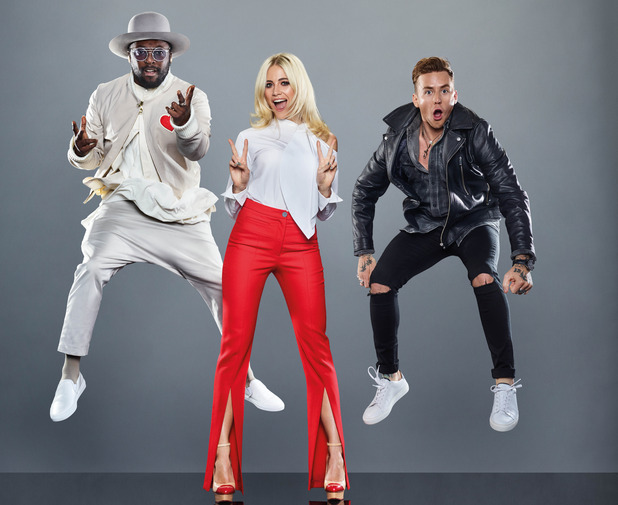 The Voice Kids: Coaches will.i.am, Pixie Lott and Danny Jones 16 November