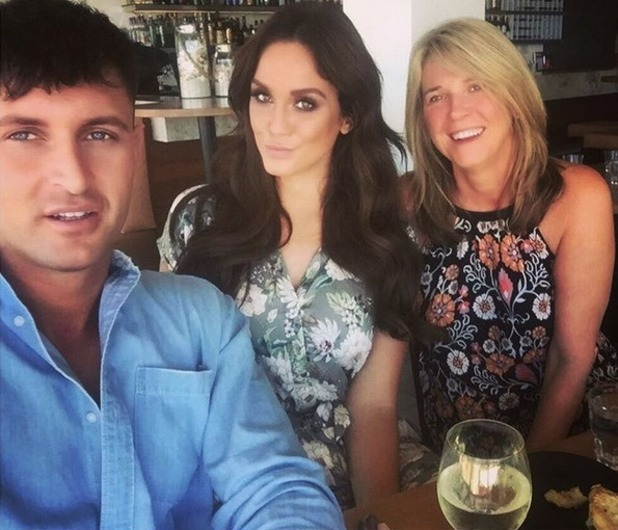Vicky Pattison confirms she is dating again: pictured with John Noble, her mum Caroll 19 November