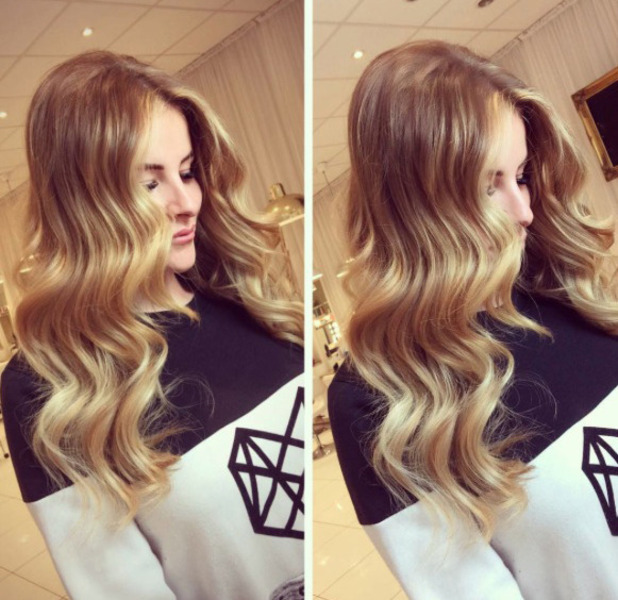 TOWIE star Georgia Kousoulou shows off her new hair extensions, Instagram, 17 November 2016