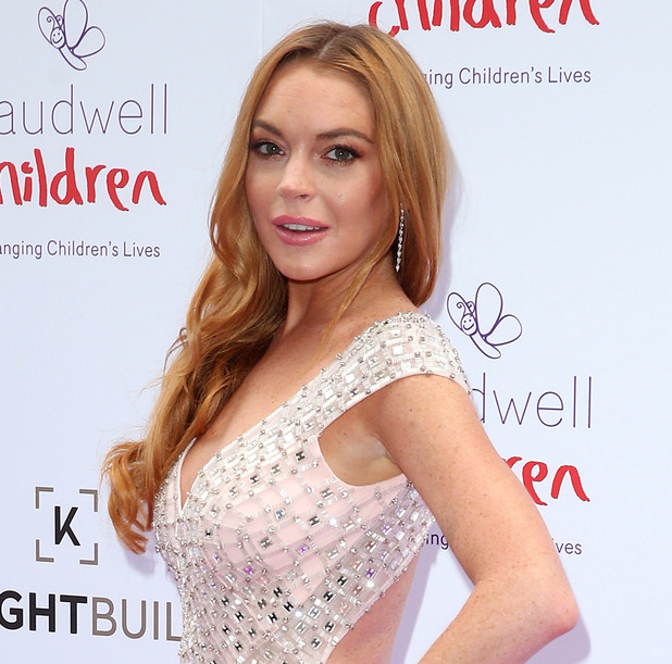 Lindsay Lohan arrives for the 2016 Butterfly Ball at The Grosvenor House Hotel on June 22, 2016 in London, England.