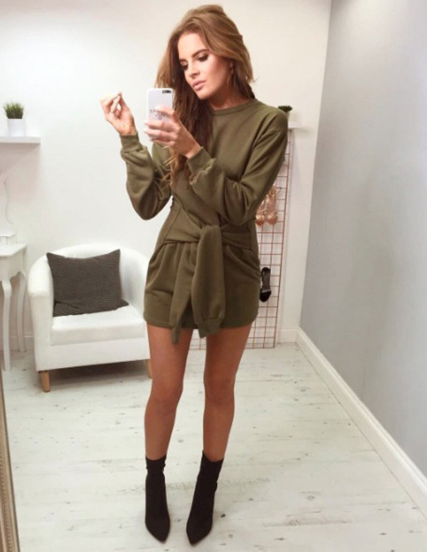 Made In Chelsea star Binky Felstead teases her upcoming In The Style collection on Instagram, 15 November 2016