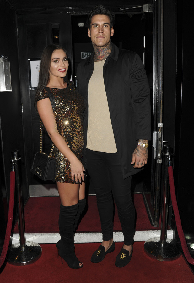 Terry Walsh and Emma-Jane Woodhams attend Olivia Buckland's Quiz clothing launch party, London, 16 November 2016