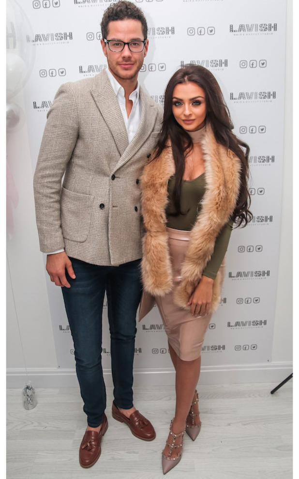 Kady McDermott, Scott Thomas at Lavish Beauty Launch party, Manchester, 12 November 2016