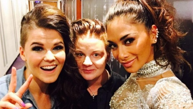 X Factor's Saara and fiancee Meri with Nicole Scherzinger 2016