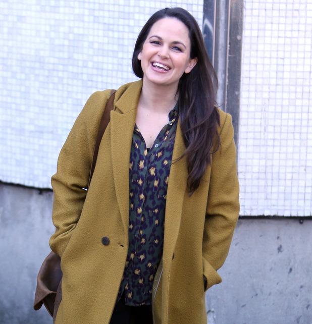 Giovanna Fletcher outside ITV Studios 2016