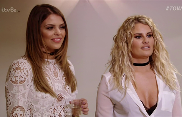 Chloe Lewis and Danni Armstrong on 'The Only Way Is Essex'. Broadcast on ITVBe.