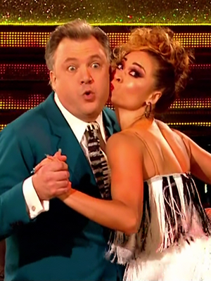Ed Balls and Katya Jones perform for the judges on 'Strictly Come Dancing'. Broadcast on BBC OneHD