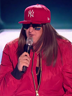 Honey G sings for survival during the results show of 'The X Factor'. Broadcast on ITV1HD