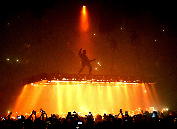 Rapper Kanye West performs at the Forum on October 25, 2016 in Inglewood, California. (Photo by Kevin Winter/Getty Images)