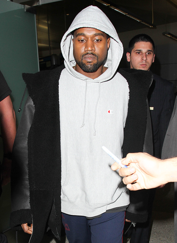 Kanye West is seen at LAX on November 15, 2016 in Los Angeles, California. (Photo by starzfly/Bauer-Griffin/GC Images)