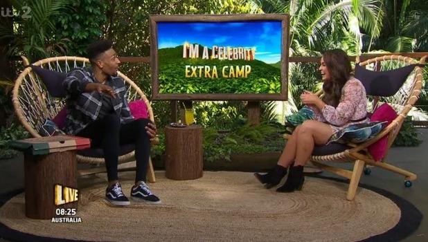 Jordan Banjo and Vicky Pattison on Extra Camp 1 December