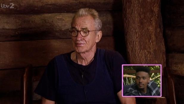Larry Lamb cries at Jordan Banjo's I'm A Celebrity exit, ITV 1 December