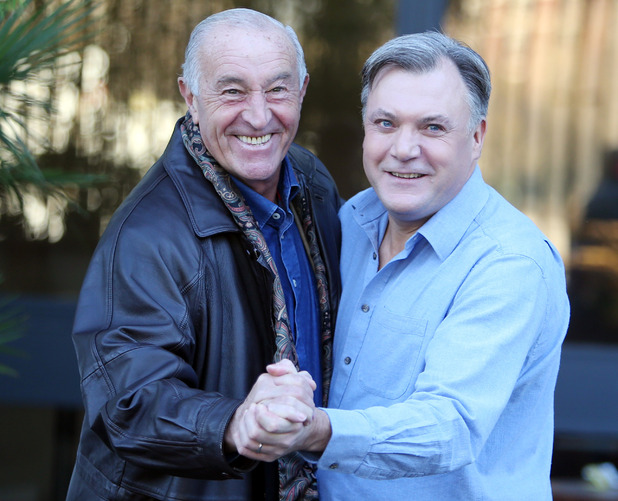 Len Goodman and Ed Balls outside ITV Studios, London 30 November