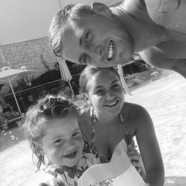Jacqueline Jossa, Dan Osborne and daughter Ella - September 2016