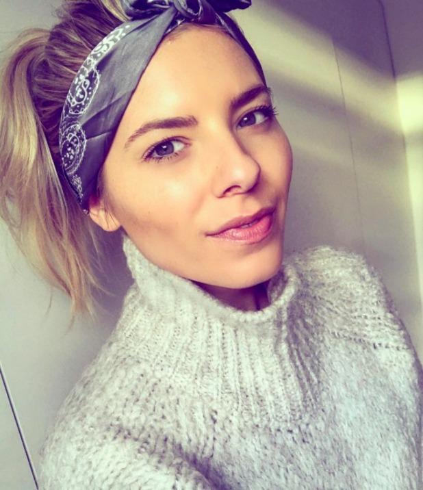 Mollie King rocks cute headscarf, 28 November 2016