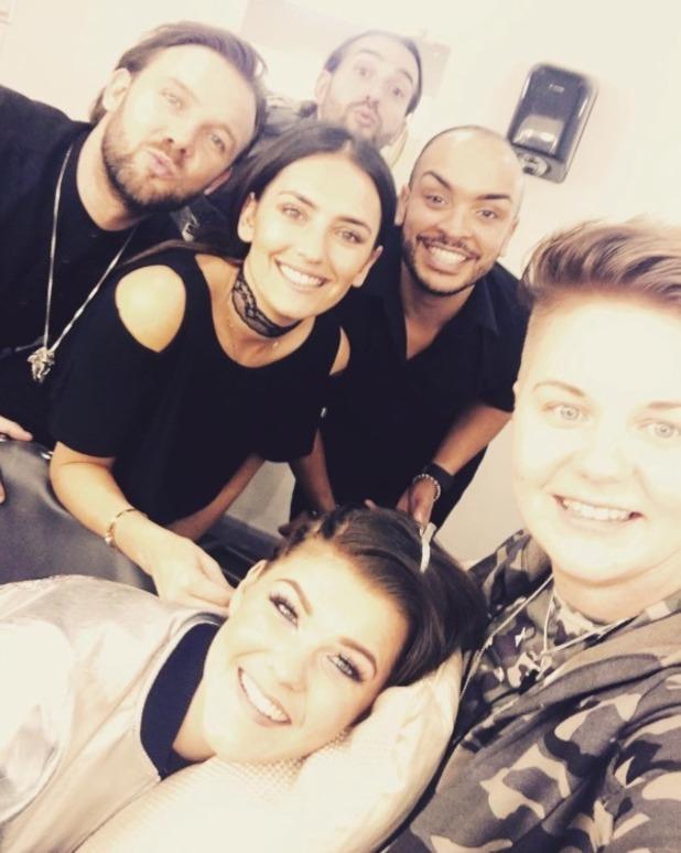 Saara Aalto takes fiancee Meri Sopanen backstage at The X Factor - 28 November 2016