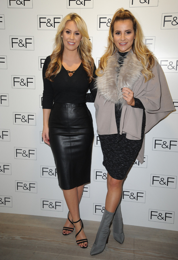 TOWIE stars Georgia Kousoulou and Kate Wright at the F&F launch party, London, 1 December 2016