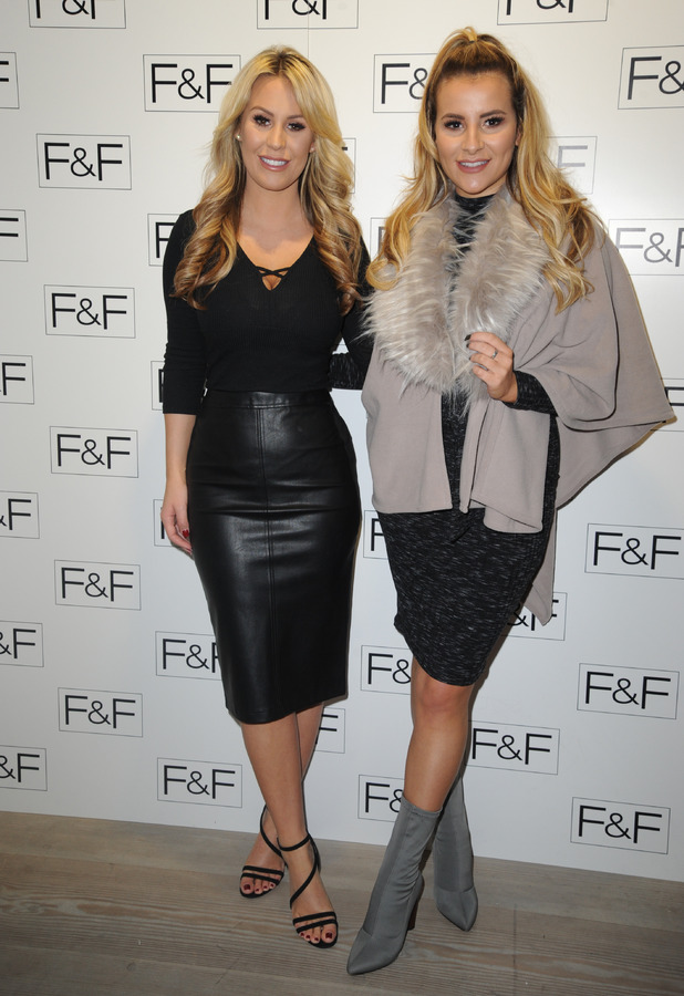 TOWIE's Georgia Kousoulou and Kate Wright at the F&F launch party, London, 1 December 2016