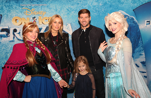 Steven and Alex Gerrard at Disney On Ice presents Frozen in Liverpool 2016