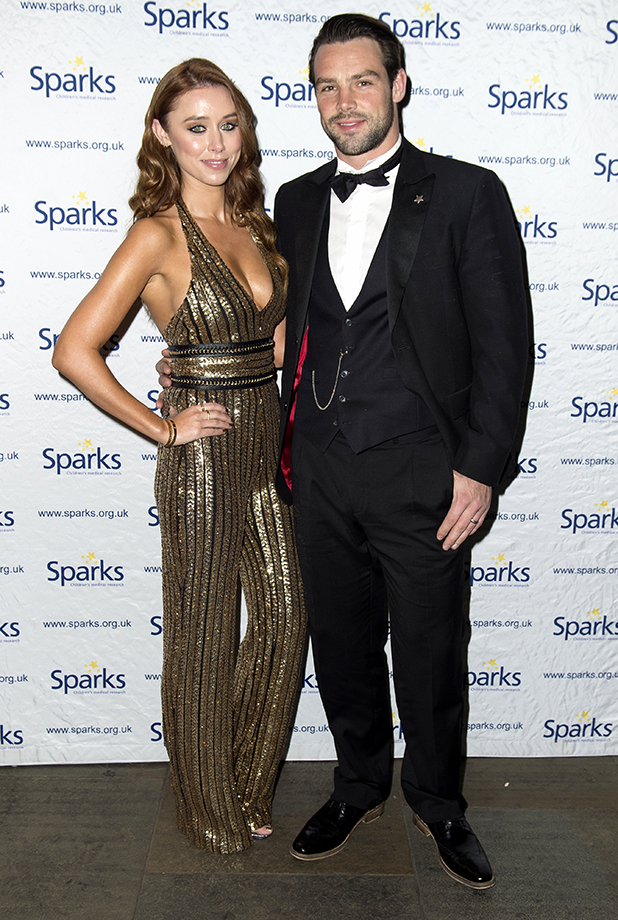 Sparks Winter Ball, Camden Roundhouse, London, UK - 30 Nov 2016 Una Foden and Ben Foden