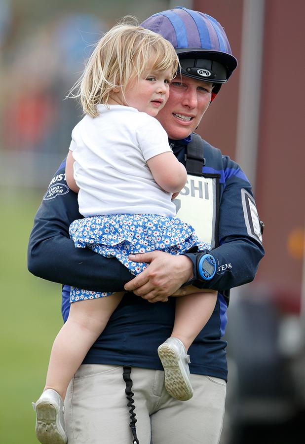Zara Phillips and daughter Mia, May 2016