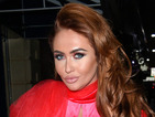 Ex On The Beach's Charlotte Dawson makes a style statement in red velvet dress complete with cape