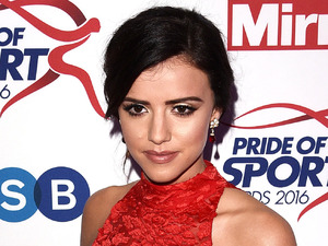 Ex TOWIE star Lucy Mecklenburgh stuns in red at Pride of Sport Awards