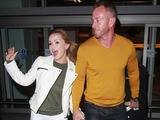 Celebrities arrive at London's Heathrow Airport after appearing on 'I'm a Celebrity...Get Me Out of Here!' in Australia Ola and James Jordan 2016