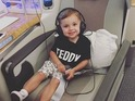 Adam Thomas shares photo of son Teddy on flight home from Australia 7 December