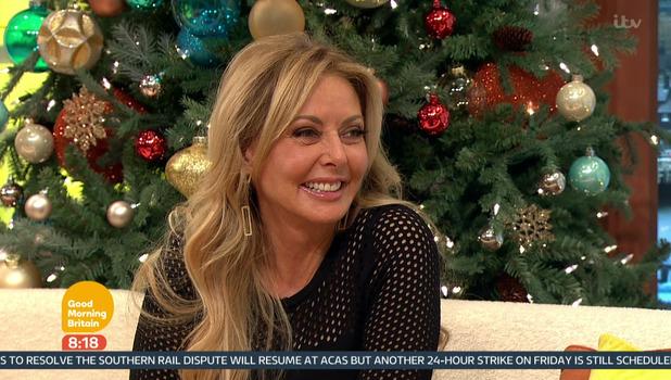 Carol Vorderman, Good Morning Britain, ITV 15 December