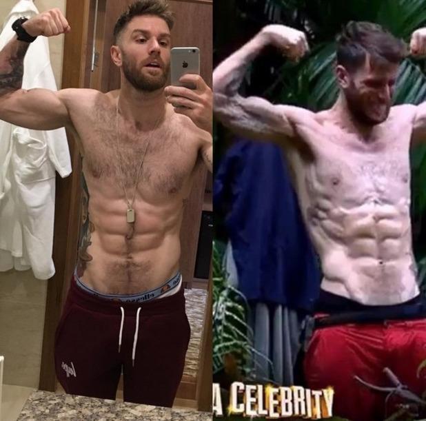 Joel Dommett shows off I'm A Celebrity weight loss, Instagram 15 December