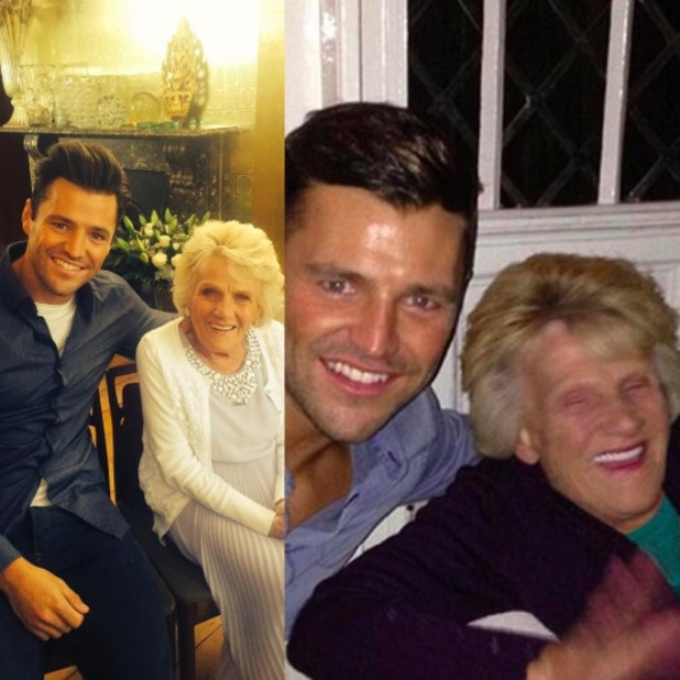 Mark Wright shares photos with his late Nanny Pat, December 2015.