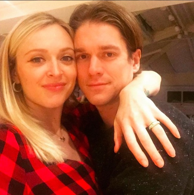 Fearne Cotton and Jesse Wood celebrate New Year, 1 January 2016.
